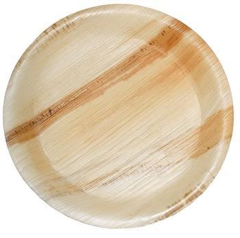 "10"" Round Biodegradable Fallen Palm Leaf Plates"