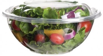24oz Clear Compostable Salad Bowl - Lid Sold Separatey