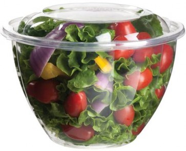 48 oz. PLA Salad Bowl with Lid