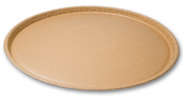 "12"" Kraft Natural Coated Corrugated Paper Catering / Deli / Party Tray"