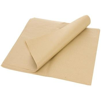 "10 3/4"" x 8"" Natural Kraft Interfold Deli Paper Wrap"