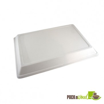 Sugarcane Lid for Eco-design Sugarcane Compartment Tray - 15.75 x 10.63 x 1.10 in.