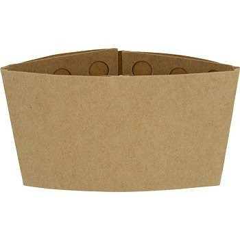 Ecotainer 100% Recycled Kraft Coffee Sleeve, Recyclable / Compostable, Blank