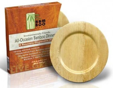 "9"" Round Bamboo Sheath Biodegradable Plate"