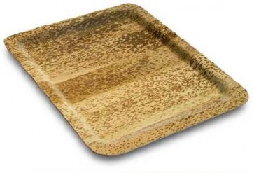 14 75 Inch Disposable Bamboo Sheath Serving Tray Ecofriendly