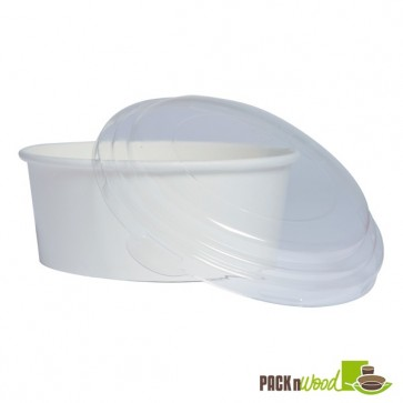 Recyclable Lid for BUCKATY Paper Bucket To Go Containers