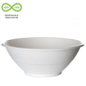 40oz Sugarcane Bowl - 9 × 3 in.