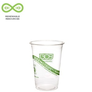 10oz Compostable Corn Plastic Cold Cups