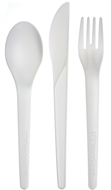 Renewable and Compostable Plantware Cutlery Kit- 6 in