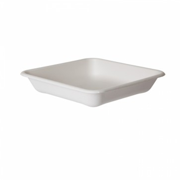 """WorldView Sugarcane Take-Out Container - 8"""" Square"""