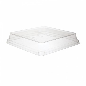 "WorldView Lid for 9"" Square Take Out Container"