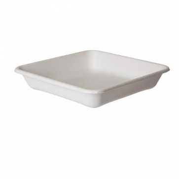 """WorldView Sugarcane Take-Out Container - 9"""" Square"""