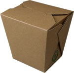 32 oz Kraft Vertical Take-Out Box FOLD-PAK EARTH