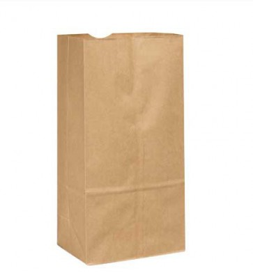 20 lb. Duro Tiger Brown Paper Bags, 1000 per Case