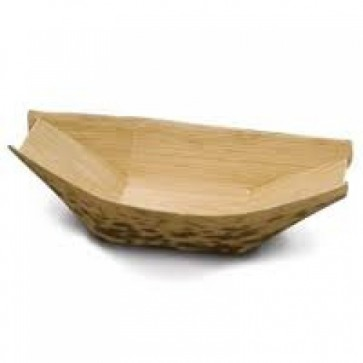 "3"" Disposable Bamboo Boat Tray"