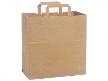"100% Recycled Paper Shopping Bags, 12"" x 7"" x 12"""