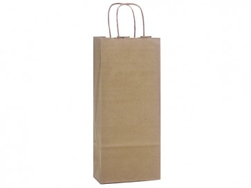 "100% Recycled Paper Wine Bags, 5.5"" x 3.25"" x 13"""
