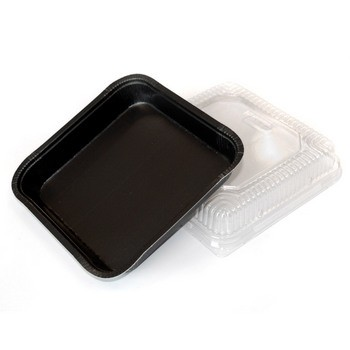 "Black 8"" x 8"" X 1.25"" SBS Sheet Baking Trays"