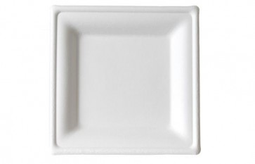 """8"""" Sugarcane Biodegradable and Compostable Square Plates"""