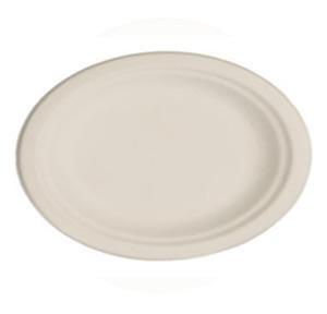 """10"""" x 8"""" Oval Bagasse Platter"""