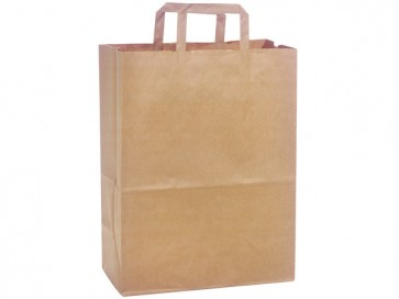 "100% Recycled Paper Shopping Bags, 12"" x 7"" x 15.75"""
