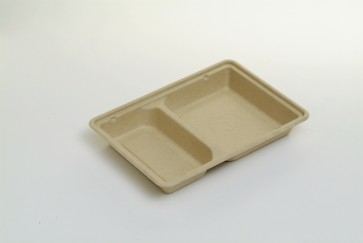 32 oz. 2-compartment tray WITH LID