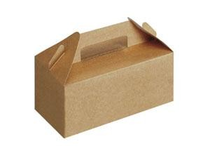 Small Kraft Take Out Box with Handle