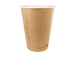 10 oz. Kraft Compostable Hot Cup