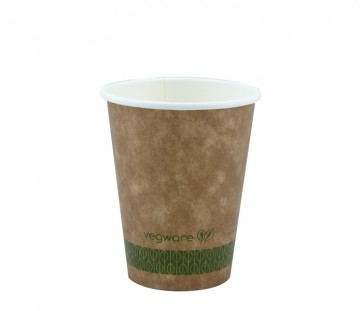 8 oz. Kraft Compostable Hot Cup