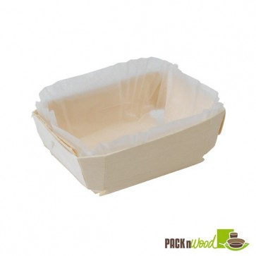 Wooden Baking Mold - 7.2 x 3.1 x 1.9 in.