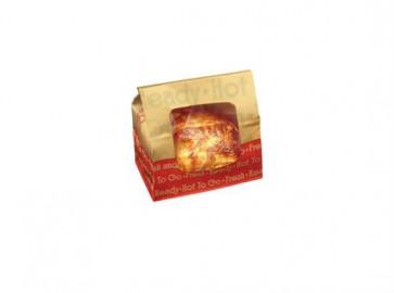 "8 1/4"" x 5 1/4"" x 8 3/4"" Natural Kraft Small Rotisserie Chicken Bags"