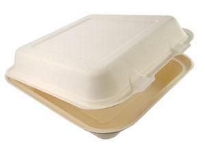 "8"" x 8"" x 3"" Bagasse Lunchbox"