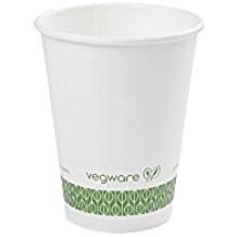 Compostable 12 oz. White Hot Cup