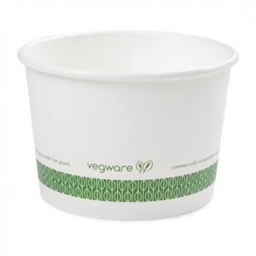 Compostable 12 oz. White Soup or Frozen Yogurt Cup