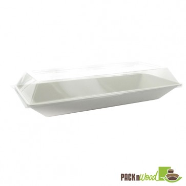"""Eco-Design"" Sugarcane Plate - 10.24 x 5.12 in."