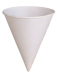 4 oz. Solo Bare Biodegradable Paper Water Cone Cups / Sno Cone Cups, (4R-2050), Compostable, Blank, Case of 5000