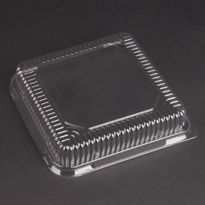 "Solut! 8 x 8 X 1.687"" Sheet Baking Trays Clear PET Dome Lids"