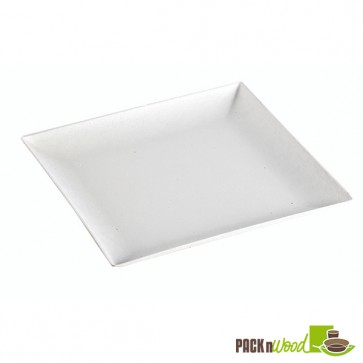 Recyclable Clear Lid for Bio 'n' Chic - Sugarcane Plate - 7.08 x 7.08 in.