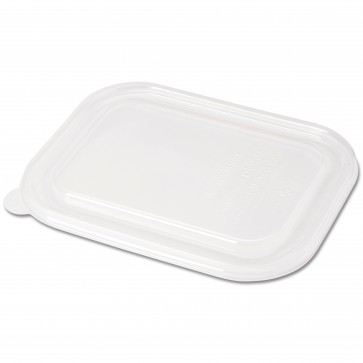 Clear Compostable Lid for Wheatstraw Small Entree Tray