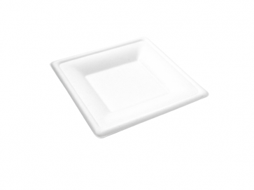 "6"" Square Bagasse Plate"
