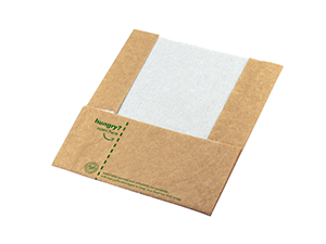 """8 x 9"""" Hot & Crispy Compostable Pouch and Wrap"""