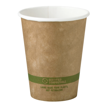 8 oz Disposable Kraft Paper Hot Cup