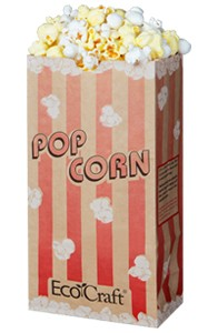 46 Oz Ecocraft Popcorn Bag Compostable And Recylable