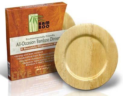 5\  Bamboo Studio Round Bamboo Plates  sc 1 st  FoodBizSupply.com & 5\