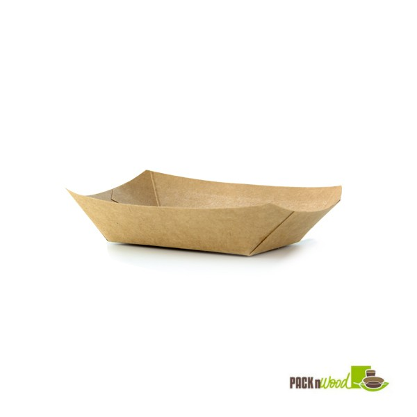 6 Quot Kraft Paper Boat Tray Ecofriendly