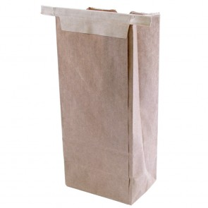 1/2 lb. Natural Kraft Brown Compostable Coffee Bag Paper Lined w/ Tie Tin