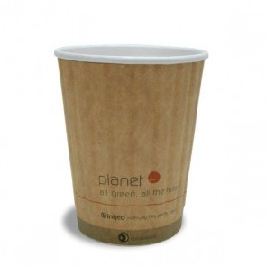 16 oz. Planet Kraft Hot Cup - Double Wall