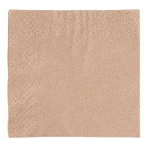 "9"" 2-Ply Natural Kraft Beverage Napkin"