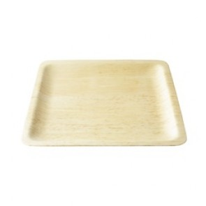 """10"""" Square Biodegradable, Disposable Bamboo Plate"""