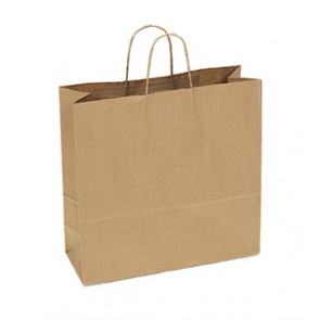 "100% Recycled Paper Shopping Bags, 16"" x 6"" x 16"""